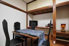 ダイニングテーブルの様子。(2014-02-07,共用部,LIVINGROOM,1F)