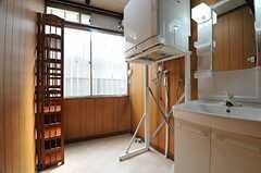 ランドリールームの様子。洗濯機が設置される予定です。(2014-02-07,共用部,LAUNDRY,1F)