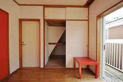 収納の様子。(202号室)(2011-02-18,専有部,ROOM,2F)