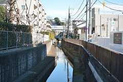 商店街近くを流れる川。(2016-02-26,共用部,ENVIRONMENT,1F)