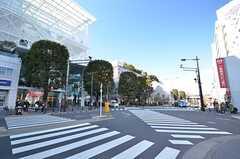 各線・二子玉川駅前の交差点。高島屋があります。(2016-02-26,共用部,ENVIRONMENT,1F)