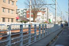 家の前には線路があります。(2017-02-28,共用部,ENVIRONMENT,1F)