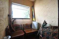喫煙スペースの様子。(2012-09-03,共用部,OTHER,2F)