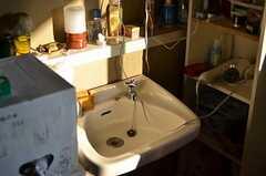 洗面台の様子2。(203号室)(2011-12-13,専有部,ROOM,2F)