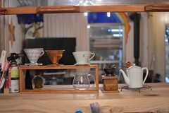 コーヒーアイテムが並んでいます。(2021-06-08,共用部,KITCHEN,1F)