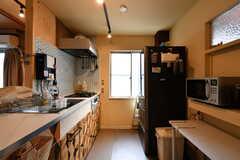 キッチンの様子。(2021-06-08,共用部,KITCHEN,1F)