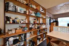 入居者さんが食材を置いておける収納棚。(2021-06-08,共用部,KITCHEN,1F)