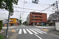 シェアハウスから東急田園都市線・用賀駅へ向かう道の様子。(2011-06-03,共用部,ENVIRONMENT,1F)