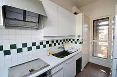 シェアハウスのキッチンの様子2。(2011-04-12,共用部,KITCHEN,3F)