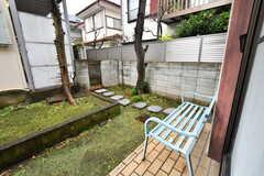庭のベンチ。(2020-01-15,共用部,OTHER,1F)