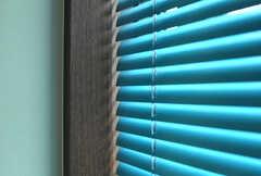ブラインドはビビッドな色合い。(305号室)(2012-03-08,専有部,ROOM,3F)