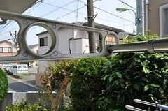 庭付きで洗濯物も干すことが出来ます。(102号室)(2011-05-18,専有部,ROOM,1F)