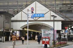 小田急線・経堂駅の様子。(2018-05-10,共用部,ENVIRONMENT,1F)