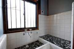 洗面台の様子。(2010-08-25,共用部,OUTLOOK,2F)