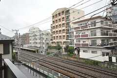 窓からの景色。駅が見える。(3011号室)(2012-11-20,専有部,ROOM,3F)