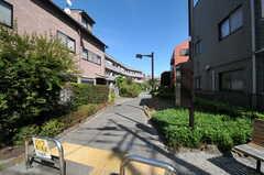 シェアハウス付近には、緑いっぱいの遊歩道。(2012-09-10,共用部,ENVIRONMENT,1F)