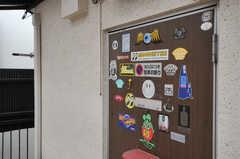 元々アパートだった際に使われていたドア。(203号室)(2013-06-07,共用部,OTHER,2F)