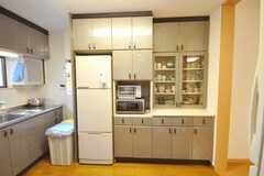 シェアハウスのキッチンの様子2。(2009-03-24,共用部,KITCHEN,1F)