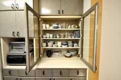食器棚の様子。(2009-03-24,共用部,OTHER,1F)
