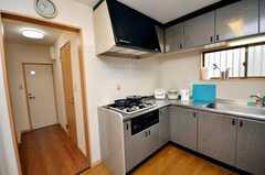 シェアハウスのキッチンの様子3。(2009-03-24,共用部,KITCHEN,1F)