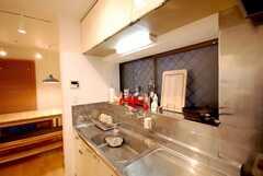 シェアハウスのキッチンの様子2。(2008-05-03,共用部,KITCHEN,1F)