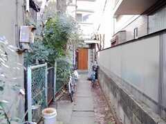 シェアハウス入り口までの私道。(2008-02-19,共用部,OTHER,1F)