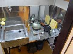 専有部の様子3。全室ミニキッチン付き。(105号室)(2008-02-19,専有部,ROOM,1F)