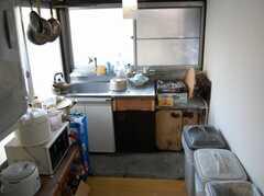 シェアハウスのキッチンの様子。(2008-02-19,共用部,KITCHEN,2F)
