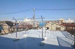 屋上の様子。物干しはコチラで。(2010-12-28,共用部,OTHER,3F)