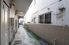 自転車置場の様子。(2010-12-28,共用部,GARAGE,1F)