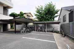 駐輪場の様子。(2010-07-02,共用部,GARAGE,3F)