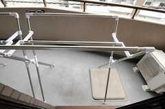 ベランダの様子。(202号室)(2010-10-19,専有部,ROOM,2F)
