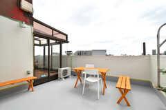 屋上バルコニーの様子。(2021-04-06,共用部,OTHER,4F)