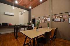 ダイニングテーブルの様子。(2014-07-24,共用部,LIVINGROOM,1F)