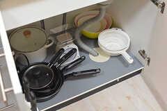 調理器具はシンク下に収納されています。(2016-09-29,共用部,LIVINGROOM,1F)