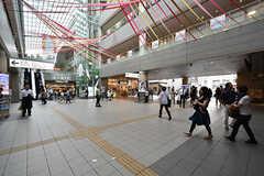 成城学園前駅構内の様子。駅ビルには雑貨店や飲食店が入っています。(2016-09-29,共用部,ENVIRONMENT,1F)
