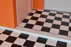 入り口には小さな段差があります。(103号室)(2013-05-13,専有部,ROOM,1F)