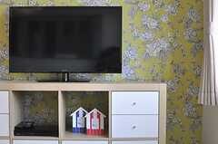 共用のTVの様子。(2014-06-01,共用部,TV,2F)