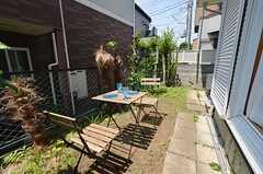 庭の様子。(101号室)(2014-06-01,専有部,ROOM,1F)