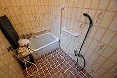バスルームの様子。シャワーは2箇所に付いています。(2016-10-31,共用部,BATH,1F)