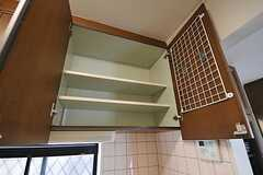 収納棚の様子。(2012-01-06,共用部,KITCHEN,1F)