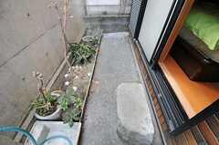 専用の庭の様子。(101号室)(2012-01-06,専有部,ROOM,1F)