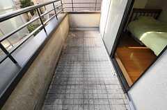ベランダの様子。(203号室)(2012-01-06,専有部,ROOM,2F)