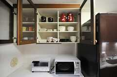 食器棚の様子。(2010-09-28,共用部,KITCHEN,1F)