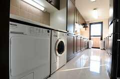 洗濯機・乾燥機の様子。(301号室)(2011-01-14,共用部,LAUNDRY,3F)