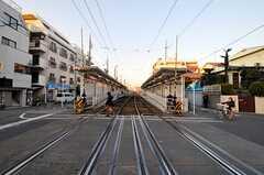 東急世田谷線・松原駅の様子。(2010-09-28,共用部,ENVIRONMENT,3F)