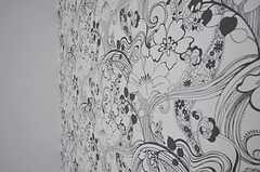 壁紙の様子。(204号室)(2011-04-14,専有部,ROOM,2F)