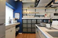 部屋ごとに分けられた食材などを置けるスペース。(2013-03-01,共用部,LIVINGROOM,6F)