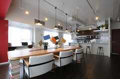 食事も同じテーブルを使うことになります。(2013-03-01,共用部,LIVINGROOM,9F)