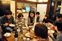 パエリアパーティーの様子5。(2010-02-28,共用部,PARTY,1F)